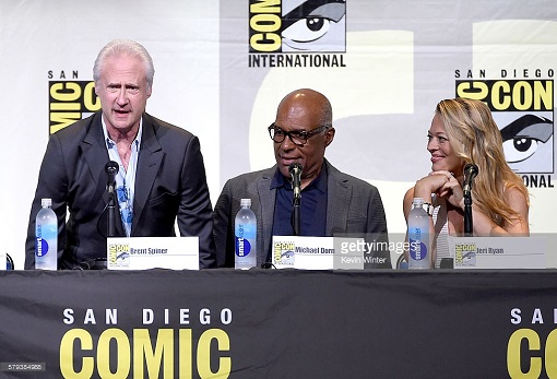 "attends the ""Star Trek"" panel during Comic-Con International 2016 at San Diego Convention Center on July 23, 2016 in San Diego, California."